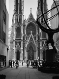 Facade of St. Patrick's Cathedral Photographic Print by GE Kidder Smith