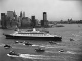 Cruise Ship in New York's Harbor Photographic Print by Charles Rotkin