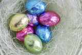 Easter Egg Candies in Nest Photographic Print