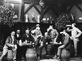 Early German Beer Drinkers Reproduction photographique