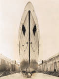 Bow of Queen Mary in Drydock Photographic Print