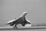 Concorde on First Takeoff from New York Fotografisk tryk