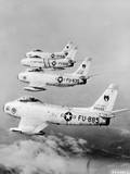 Flight of F-86 Sabrejets Guard the Philippines Photographic Print