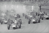 Cars Racing in a Grand Prix Photographic Print