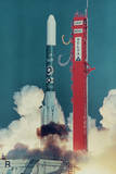 American Rocket Blasting into Space Photographic Print by Bill Mitchell
