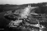 Norris Dam Being Built Photographic Print