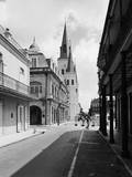 French Quarter Street near Cathedral of St. Louis Photographic Print by GE Kidder Smith