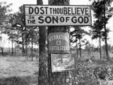 Signs along Highway Photographic Print by Marion Post Wolcott