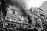 Burning Building Photographic Print