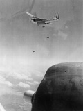 B-26 Bomber Dropping Bombs Photographic Print