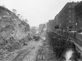 New York Subway Construction 129Th St. Photographic Print