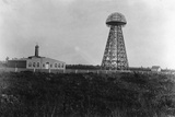 View of the Tesla Wireless Broadcasting Tower Photographic Print
