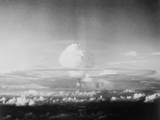 View of Hydrogen Bomb Mushroom Cloud Rising Photographic Print