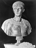 Bust of Caligula in Military Attire Photographic Print