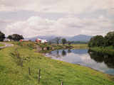 Connecticut River and Farm Photographic Print by Philip Gendreau