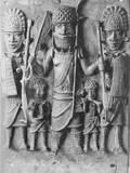Sculpture of Benin Warriors Photographic Print