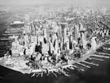 Manhattan from the Air with River Site Photographic Print by Philip Gendreau