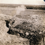 Soldiers Firing their Weapons from Trenches Photographic Print