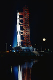 Nighttime View of the Apollo 17 Spacecraft Photographic Print