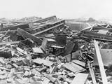 Schoolroom Destroyed by Tornado Photographic Print