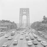 Traffic on George Washington Bridge Photographic Print by Bob Wendlinger