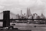 Lower Manhattan Skyline and Brooklyn Bridge Photographic Print by Philip Gendreau