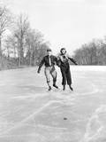 Couple Ice Skating Photographic Print by Philip Gendreau