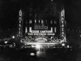 Crowds Waiting to See Eddie Cantor Movie Photographic Print