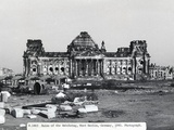 Exterior View of Ruins at the Reichstag in West Berlin Photographic Print