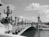 View of Pont Alexander III Bridge Scene Photographic Print by Philip Gendreau