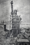Statue of Liberty Being Prepared for Shipment Photographic Print