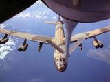 View of USAF B-52 Stratofortress Bomber in Flight Stampa fotografica