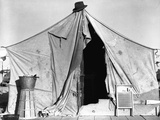 Tent in Labor Camp Photographic Print by Dorothea Lange