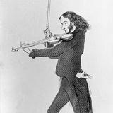 Nicolo Paganini Playing Violin Photographic Print