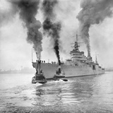 USS Indianapolis Beginning Trial Cruise Photographic Print