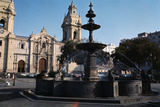 Bronze Fountain in the Plaza De Arms Photographic Print