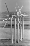 Row of Wind Turbines at Wind Farm Photographic Print by Terry Schmitt