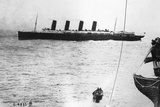 Large Liner Lusitania Leaving in Waters Photographic Print