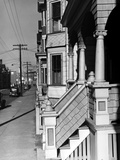 House Fronts in New Bedford Photographic Print by Jack Delano