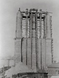 Construction of the Brooklyn Bridge Photographic Print