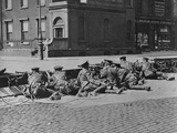 British Troops Seal-Off Dublin Streets during Troubles Photographic Print
