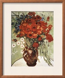 Vase with Daisies and Poppies Poster by Vincent van Gogh