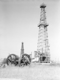 Oil Derricks in Field Photographic Print by Philip Gendreau