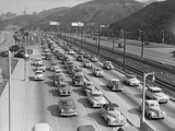 Traffic on Hollywood Freeway Photographic Print by Philip Gendreau
