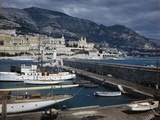 View of Harbor and Breakwater of Monte Carlo Photographic Print by David S. Boyer