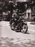 Police Officer on Motorcycle Photographic Print by Philip Gendreau