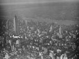 Howard Hughes Lockheed 14 Super Electra over New York City Photographic Print