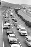 Traffic Jam due to Rolling Stones Concer Photographic Print