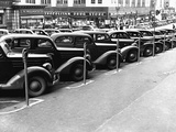 Cars Parked on Street Fotodruck von John Vachon