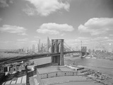 Brooklyn Bridge and City Skyline Photographic Print by Philip Gendreau